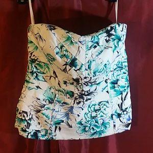 Size 6 corset tube top/White House Black Market